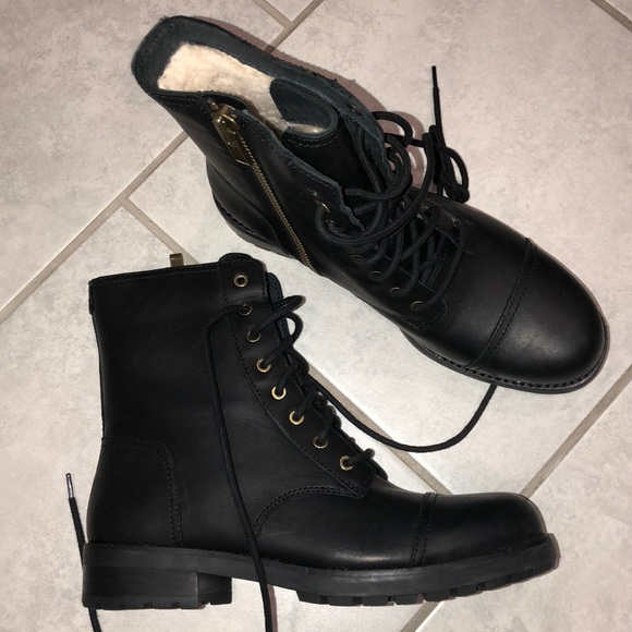 f77dacad0d UGG Shoes | Leather Kilmer Combat Boots 1019652 New No Box | Poshmark